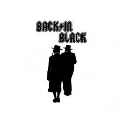 Tee shirt Back in Black parodie rabbins  sublimation