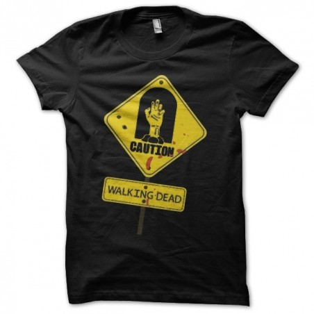 The Walking Dead sign black sublimation t-shirt