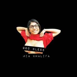 tee shirt god bless mia khalifa sublimation