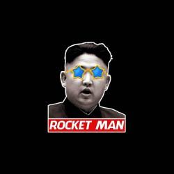 Tee Shirt Kim jong-un rocket man sublimation
