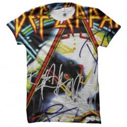 tee shirt def leppard fluo...