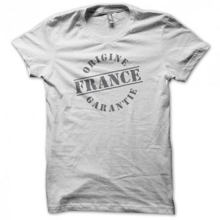 France Origine guarantee sublimation white T-shirt
