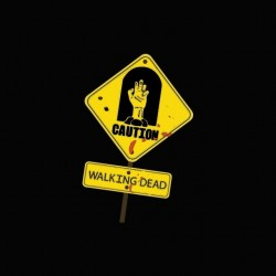 Tee shirt The Walking Dead caution sign  sublimation