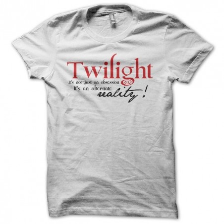 Twilight T-shirt is not the reality in white sublimation