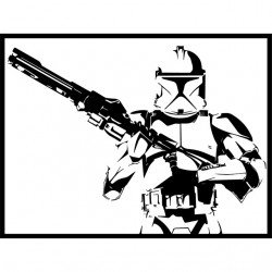 T-shirt Clone trooper vignette white sublimation