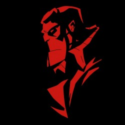 Tee shirt Hellboy silhouette  sublimation
