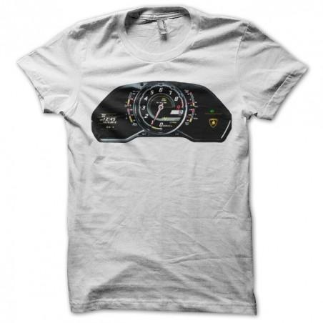Lamborghini mileage t-shirt in white sublimation
