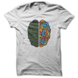 White brain sublimation t-shirt