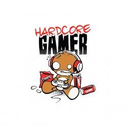 hardcore gamer t-shirt sublimation