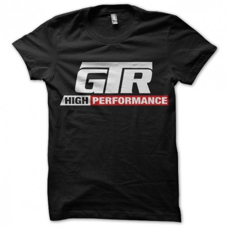 GTR t-shirt of cars video game in black sublimation