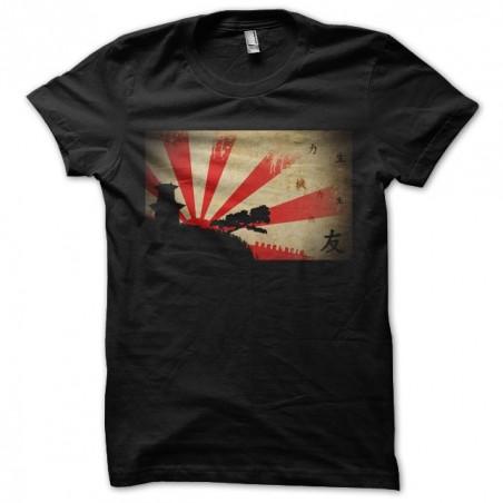 T-shirt rising sun number 2 black sublimation