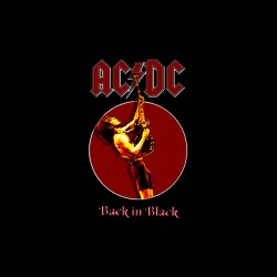 acdc back in black t-shirt sublimation