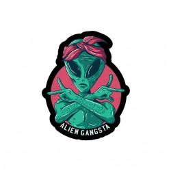 alien gangsta shirt sublimation