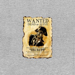 Wanted sea dawg pirate dead or alive tshirt