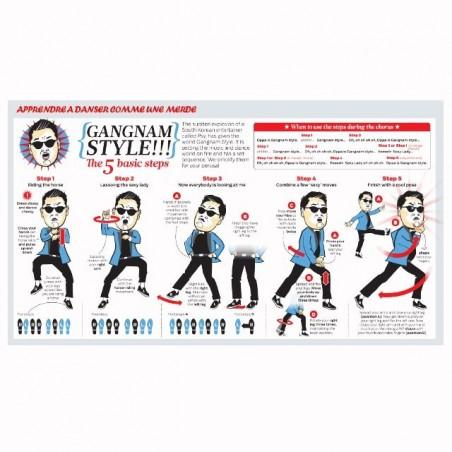 Gangnam Shitty Dance Lesson white sublimation t-shirt