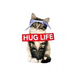 tee shirt hug life chat sublimation