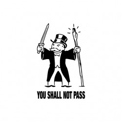 Tee shirt Monopoly parodie Gandalf  sublimation