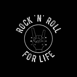 rock n roll for life shirt sublimation