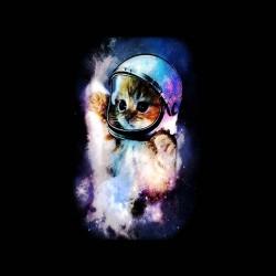 space cat shirt sublimation