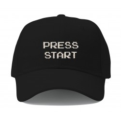 press start black cap