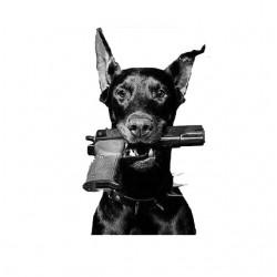 tee shirt chien doberman flingue sublimation