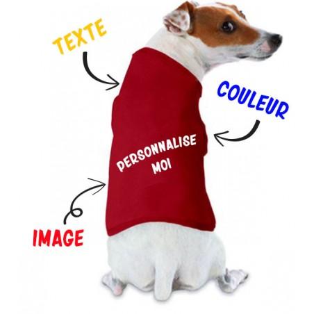 Tee shirt pour chien personnalisable