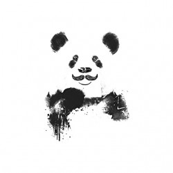 mustache panda shirt sublimation