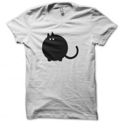 White sublimation cat round...