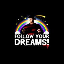 tee shirt freddy follow your dreams sublimation