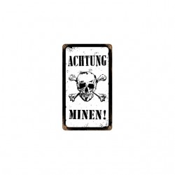 achtung minen tshirt sublimation