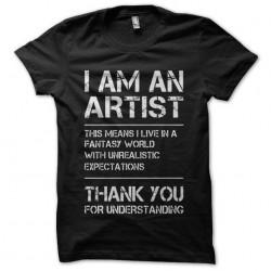 i am an artist tshirt...
