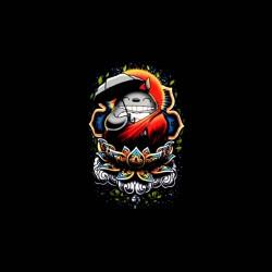 totoro version transe goa tshirt sublimation