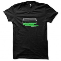 Black sublimation low battery t-shirt