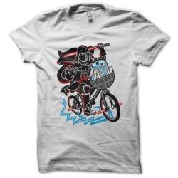 Tee shirt Dark vader et R2d2 en vélo  sublimation