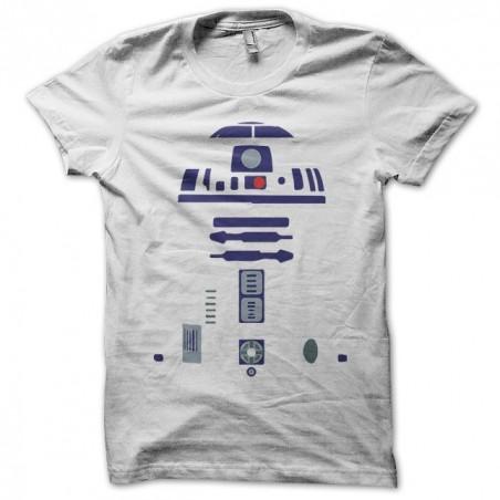 R2D2 white warrior sublimation warrior t-shirt