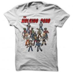 The Walking Dead parody Lego white sublimation t-shirt