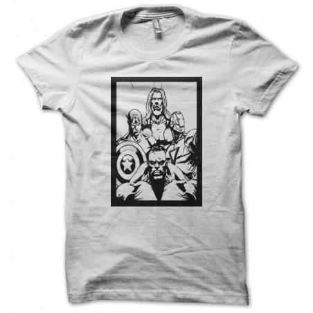 Sublimation white super hero family table t-shirt