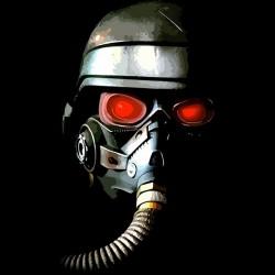 Killzone black sublimation helmet t-shirt