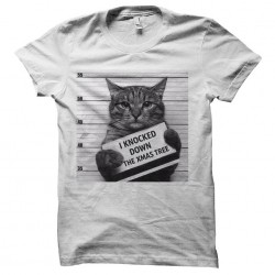 tee shirt chat et sapin de...