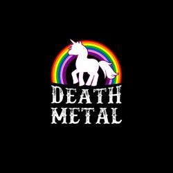 death metal unicorn tshirt sublimation