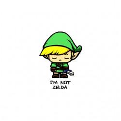 i am not zelda tshirt sublimation