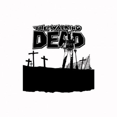 Tee shirt cimetiere de la série walking dead  sublimation
