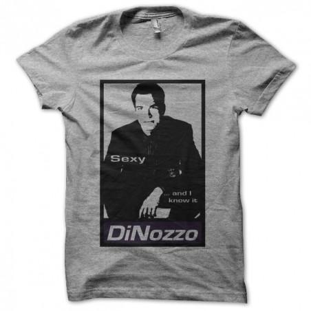 NCIS t-shirt Tony Dinozzo parody Obey gray sublimation