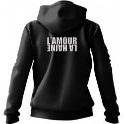 l'amour la haine hoodie