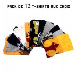 Pack de 12 t-shirts au choix
