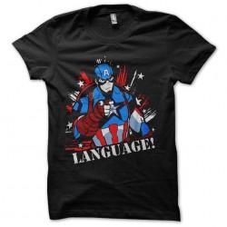 captain america language...