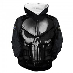 punisher jacket hoodie