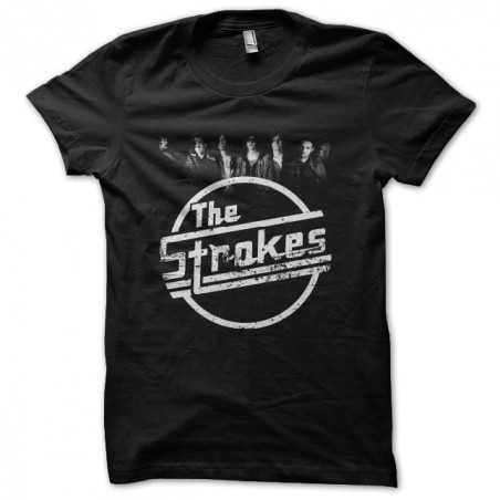 The Strokes worn effects t-shirt black sublimation