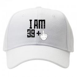 casquette i am 39+ blanche