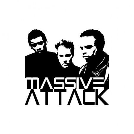 Massive Attack t-shirt white sublimation